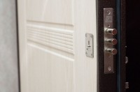 Входная металлическая дверь ДК модель Комфорт Беленый дуб