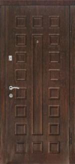 Входная металлическая дверь ДК модель Люкс Беленый дуб